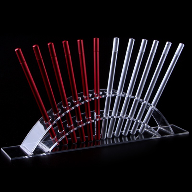Eyebrow Pencil Display Stand 12 Holes Acrylic Paint Brush Brush Display Holder Transparent Ballpoint Pen Holder,makeup Tools