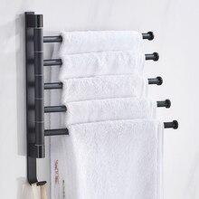 욕실 수건 선반 회전식 수건 홀더 공간 알루미늄 2/3/4/5 바 수건 걸이 주방 선반 종이 교수형 벽 마운트