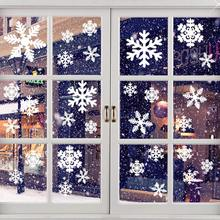 цена на New Year Christmas decorations stickers restaurant shopping mall door stickers Christmas window glass stickers white snowflake w