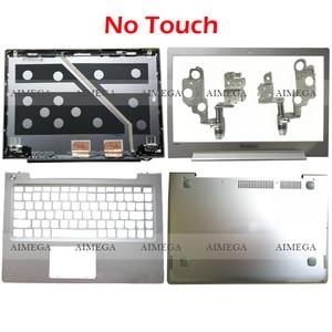 NEW For Lenovo Ideapad U330 U330P U330T Laptop LCD Back Cover/Front Bezel/Hinge/Palmrest/Bottom Case 3CLZ5LCLV00 Silver NO Touch
