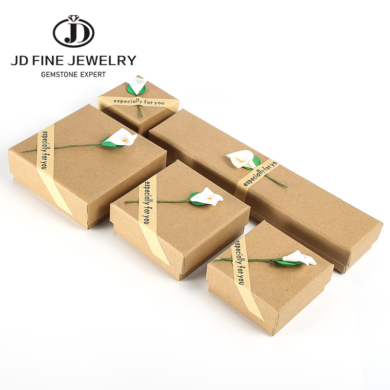 JD New Square Jewelry Organizer Box Engagement Ring For Earrings Necklace Bracelet Display Gift Box Holder Handmade Love Wedding