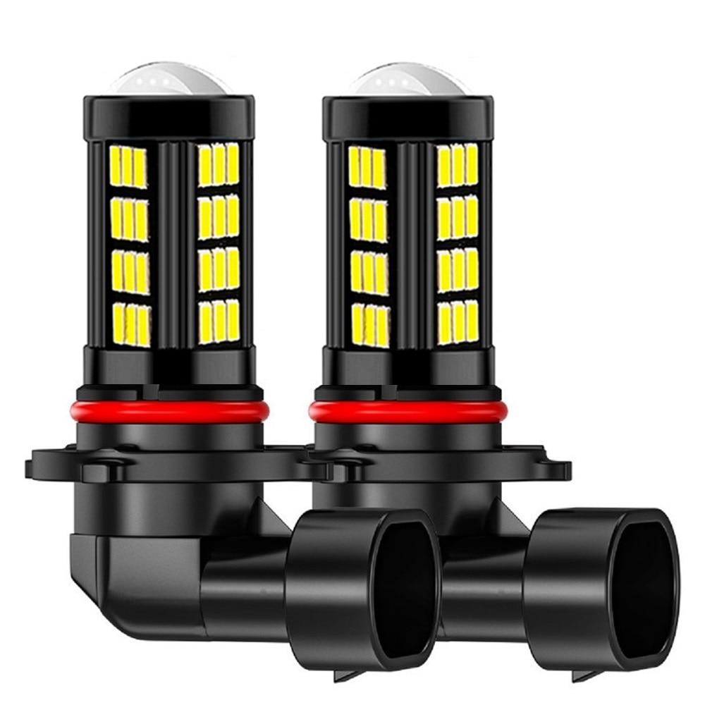 Светодиодные лампы для противотуманных фар, 2 шт., H8, H11, HB4, 9006, H9, высокое качество, 66 светодиодов, 1200LM, 6000K, белые, автоматические светодиоды, 12 ...