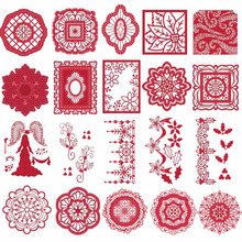 Christmas Trees Angel Retro Lace Snowflake Flowers Frames Metal Cutting Dies for DIY Scrapbooking Paper Cards Crafts New 2019