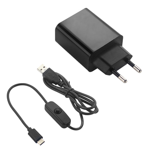 Raspberry Pi 4 B Power Adapter 5V 3A Power Supply EU US Plug 1M Switch USB Cable Power Wire Charger for Raspberry Pi 4 Model B