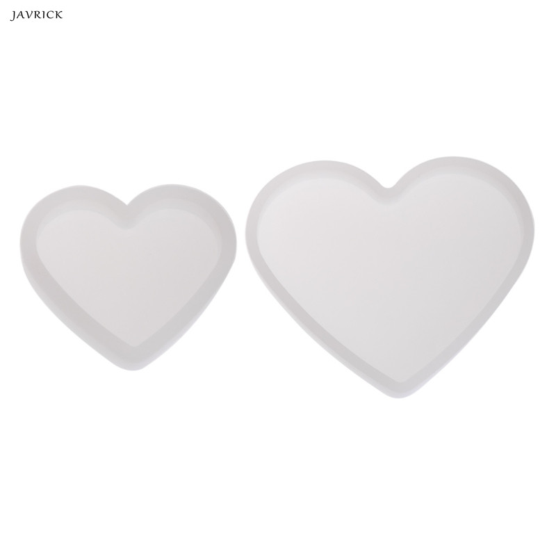 JAVRICK Resin Transparent Silicone Mold Heart Shape Epoxy Resin DIY Jewelry Making Crafts Great For DIY Tools Decorations