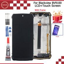 Ocolor Voor Blackview BV9100 Lcd scherm En Touch Screen Assembly 6.3 Voor Blackview BV9100 Screen Met Frame + Film + Gereedschap + Lijm
