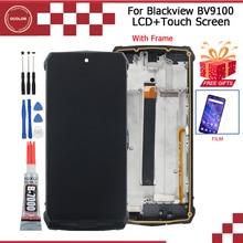Ocolor para blackview bv9100 display lcd e montagem da tela de toque 6.3 for for para blackview bv9100 tela com quadro + filme + ferramentas cola