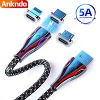 Cavo magnetico USB C 5A cavo caricatore Micro USB trasferimento dati Usbc ricarica rapida per iphone samsung 1m 2m tipo C cavo di ricarica