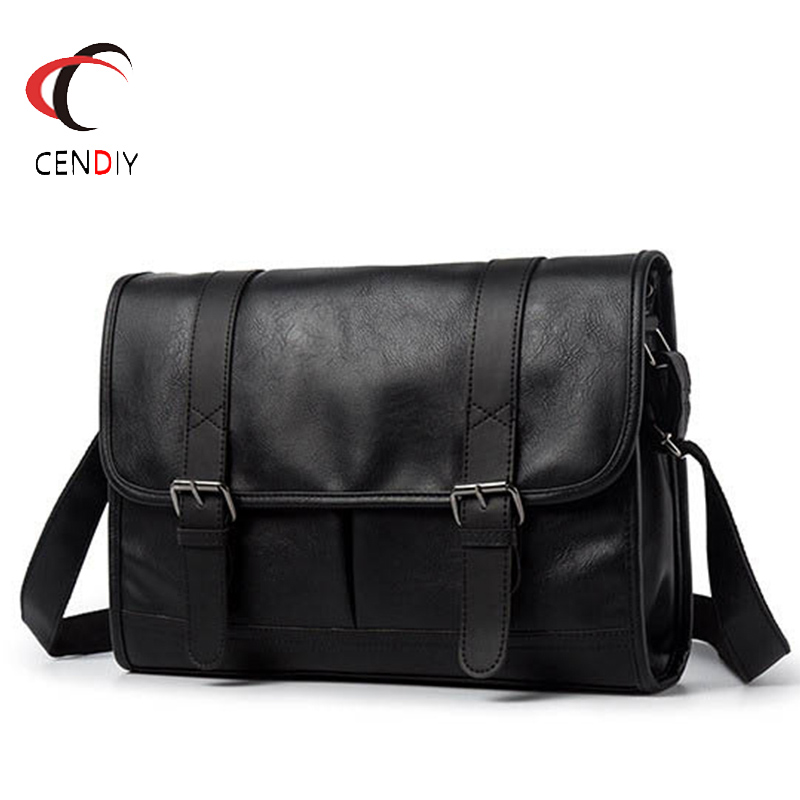 Fashion Business Man Leather Shoulder Bags Travel Bag Men Briefcase Brand Luxury Messenger Bag Male Laptop Crossbody Men Bag