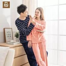 Nova youpin como vivo pele quente veludo quente e confortável casa serviço conjunto para casal