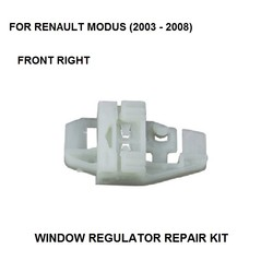 KIT de CLIP regulador de ventana 2003-2008 para regulador de ventana eléctrico RENAULT MODUS, CLIP de reparación, parte delantera derecha