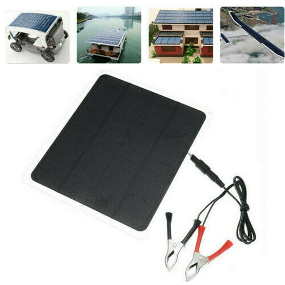 12V 20W Solar Panel <font><b>Trickle</b></font> <font><b>Battery</b></font> <font><b>Charger</b></font> Power Supply <font><b>Car</b></font> Boat Yacht Outdoor image