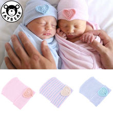 Baby Newborn Cute Hat Infant Girl&boy Comfy Bowknot Striped Hospital Cap Winter Warm Toddler Beanie