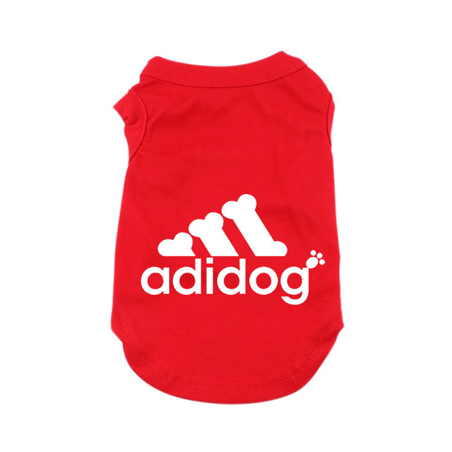 Adidog Summer Pet Dog Cat Vest Clothing for Small Large Dogs,Breathable 100% Cotton Pet Shirt,Chihuahua French Bulldog Clothing 3