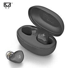 Kz s1 \ kz s1d tws sem fio bluetooth 5.0 fones de ouvido dinâmico/1ba + 1dd híbrido toque controle cancelamento ruído esporte fone de ouvido