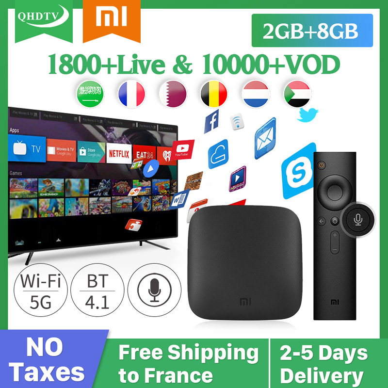 IPTV France Italy XiaoMi TV Box 4K Spanish France IPTV Subscription Mi Box 3 IPTV French Arabic Belgium Spain IP TV QHDTV