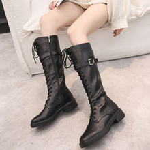 Red Black White Boots Platform 2019 New Autumn Martin Women Western Cowboy Overknee