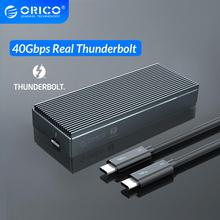 ORICO Thunderbolt 3 40Gbps NVME M.2 SSD 인클로저 2 테라바이트 알루미늄 USB C, 40Gbps Thunderbolt 3 C to C 노트북 데스크탑 용 케이블