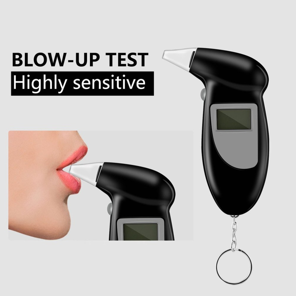 2019 Professional Alcohol Breath Tester Breathalyzer Analyzer Detector Test Keychain Breathalizer Breathalyser Device LCD Screen