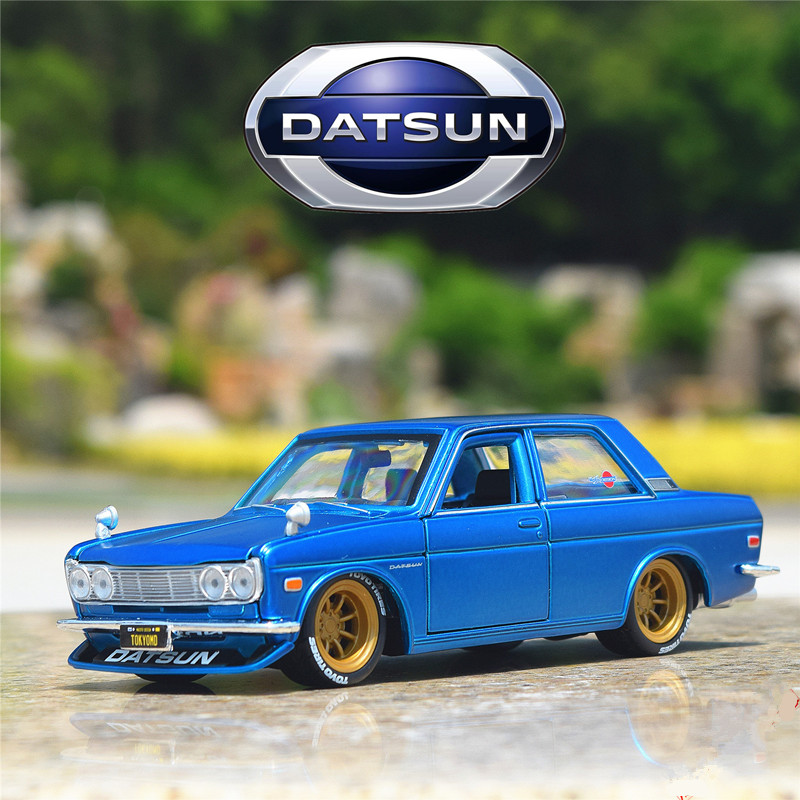 Maisto 1:24 Tokyo Drift 1971 Datsun 510 Modified Simulation Alloy Car Model Collection Gift Toy