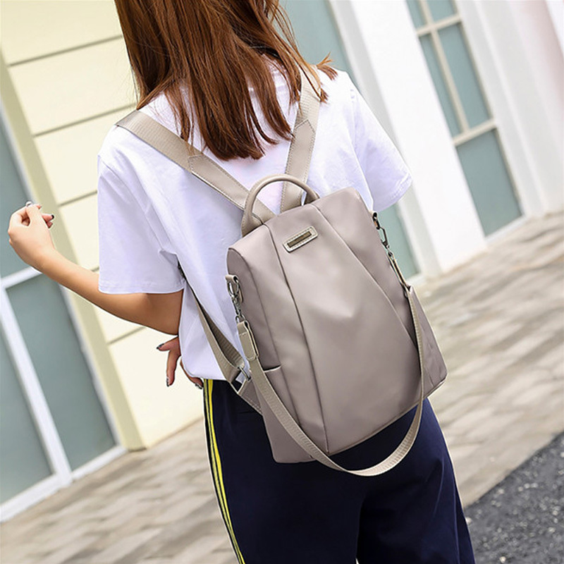 He19da3e2459f4512a373e22a3ecaa8903 - Women Fashion Backpack Oxford Multifunction Bags Female Anti-theft Casual Backpacks Girl's Elegant Mochila For School Work