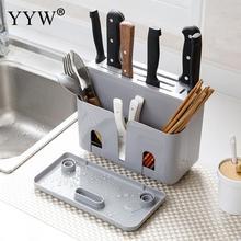 Polypropylene Kitchen Knife Holder Multifunctional Storage Rack Tool Block Stand Accessories Cozinha