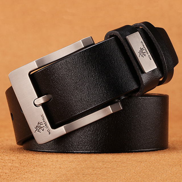 High Quality cow genuine leather luxury strap male belts 4