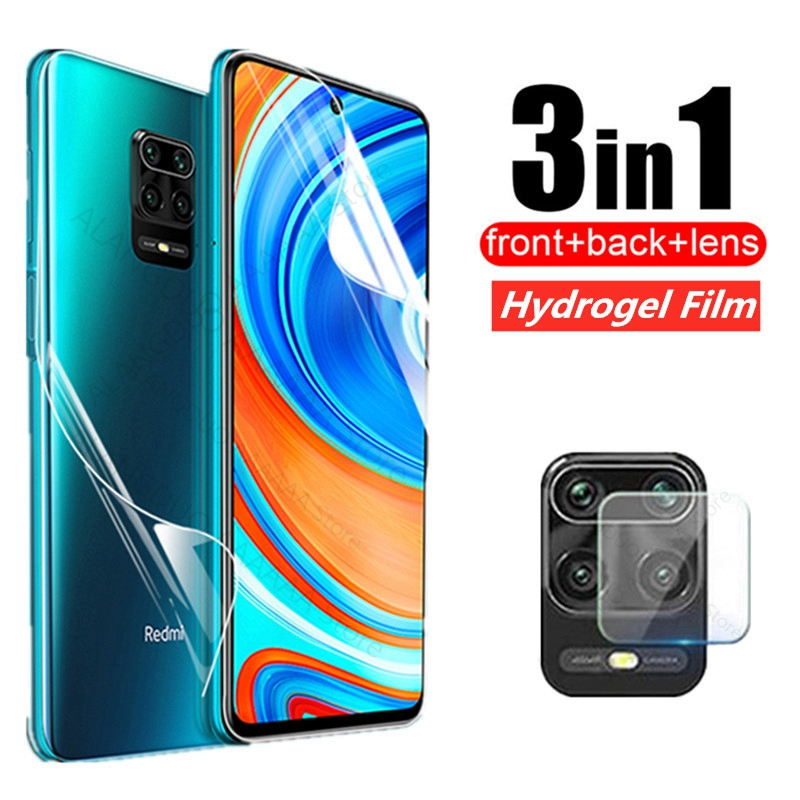 3 in 1 Hydrogel soft Film For xiaomi redmi note 9 9s 9 pro max 7 8 8t Front back screen protector Camera Lens protective Glass(China)