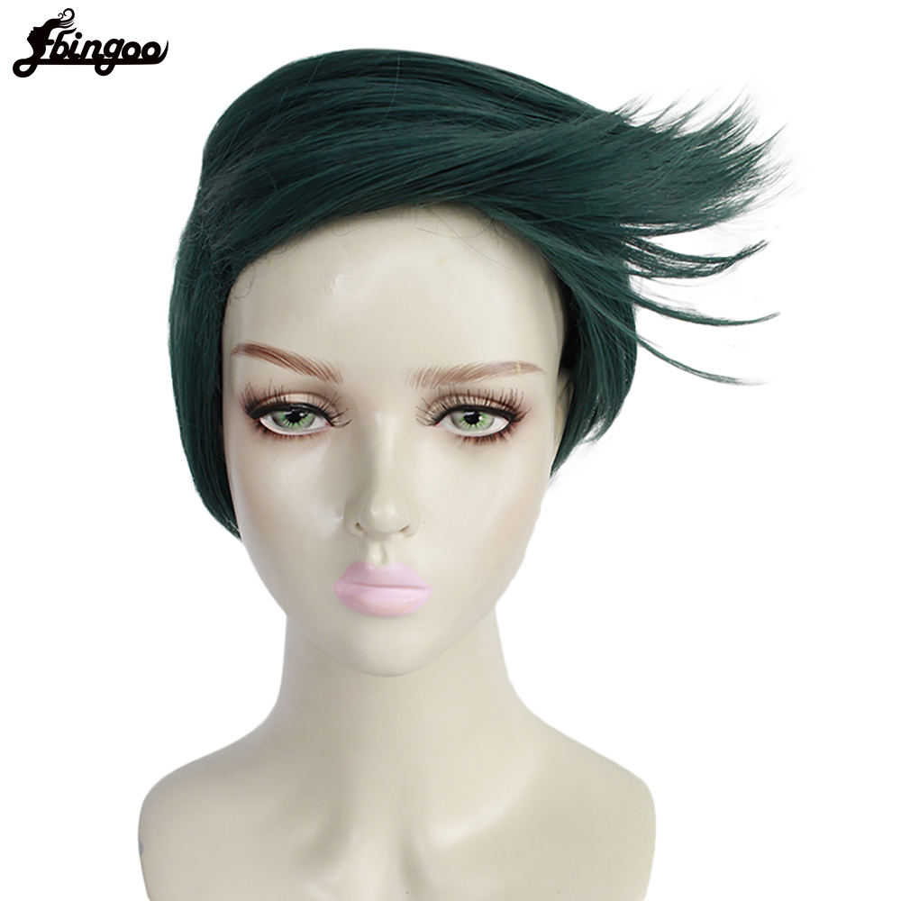 Ebingoo JoJo Bizarre Adventure Diamond is unbreakable Rohan Kishibe Synthetic Cosplay Wig High Temperature Fiber Hair Wigs