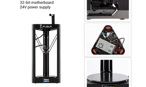 Image 5 - 3D Drucker Flsun QQ S PRO Delta Kossel Auto Level Verbesserte Lebenslauf Pre montage TFT 32bits bord impressora 3d Drucker
