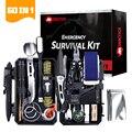 59 в 1 инструменты для выживания на природе, кемпинга, пешего туризма, многофункциональный чехол, сумка, инструменты, набор первой помощи, пос...