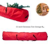 55 אינץ חג המולד עץ אחסון תיק אוקספורד כבד החובה חג המולד עץ מיכל חיזק ידית רוכסן חג המולד צעצוע אחסון תיק באתר