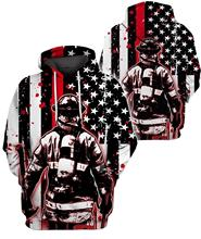 Flag Firemen/Policemen Pattern Men Women Hoodies Police 3D Print skull Crewneck Sweatshirt suit Plus size