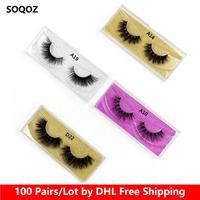 Wholesale 100 Pairs Eyelashes 3D Mink Lashes False Eyelashes Handmade Mink Eyelashes 33 Styles Eye Lashes Glitter Packaging