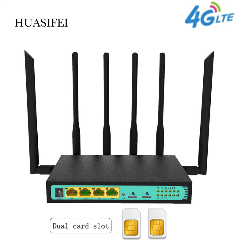 4G Dual SIM карты wi fi маршрутизатор 4G Беспроводной маршрутизатор 4G Wi-Fi маршрутизатор Sim 4G маршрутизатор PPTP L2TP Openwrt маршрутизатор VPN 300 Мбит/с Беспр...