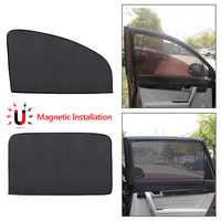 VODOOL Magnetic Car Window Sunshade Curtain UV Protection Auto Side Windows Mesh Sun Visor Shield Sun Shade Solar Protector Film