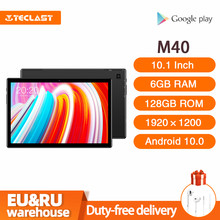 Teclast M40 10.1 inch Tablet Android 10.0 6GB RAM 128GB ROM UNISOC T618 Octa Core 8MP Camera Bluetooth 5.0 4G Phone Call WiFi