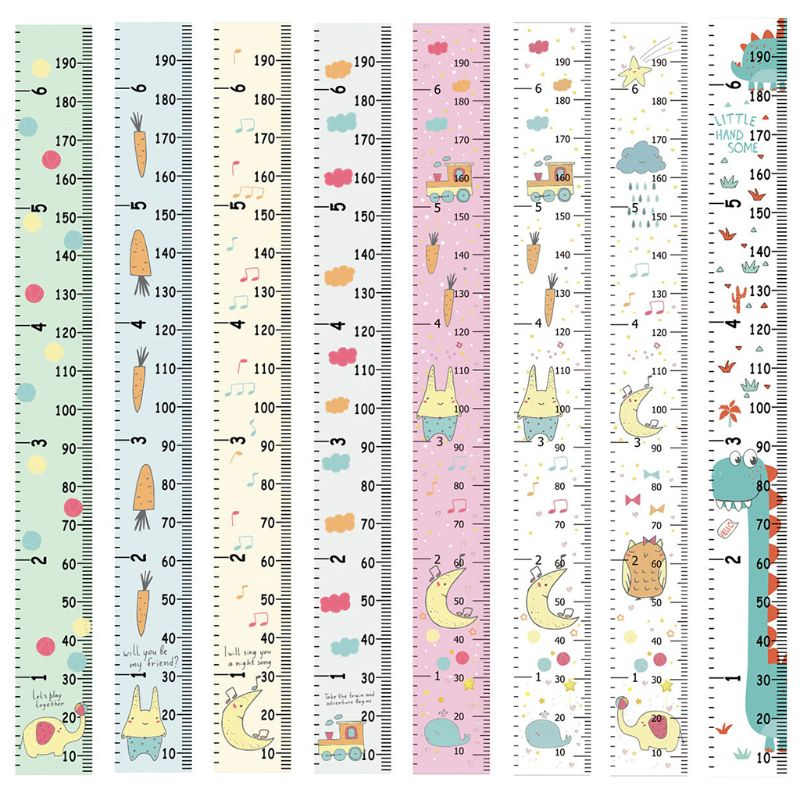 Home Children Cartoon Height Ruler Simple Creative Decorative Wall Stickers Hanging Photography Props U50F