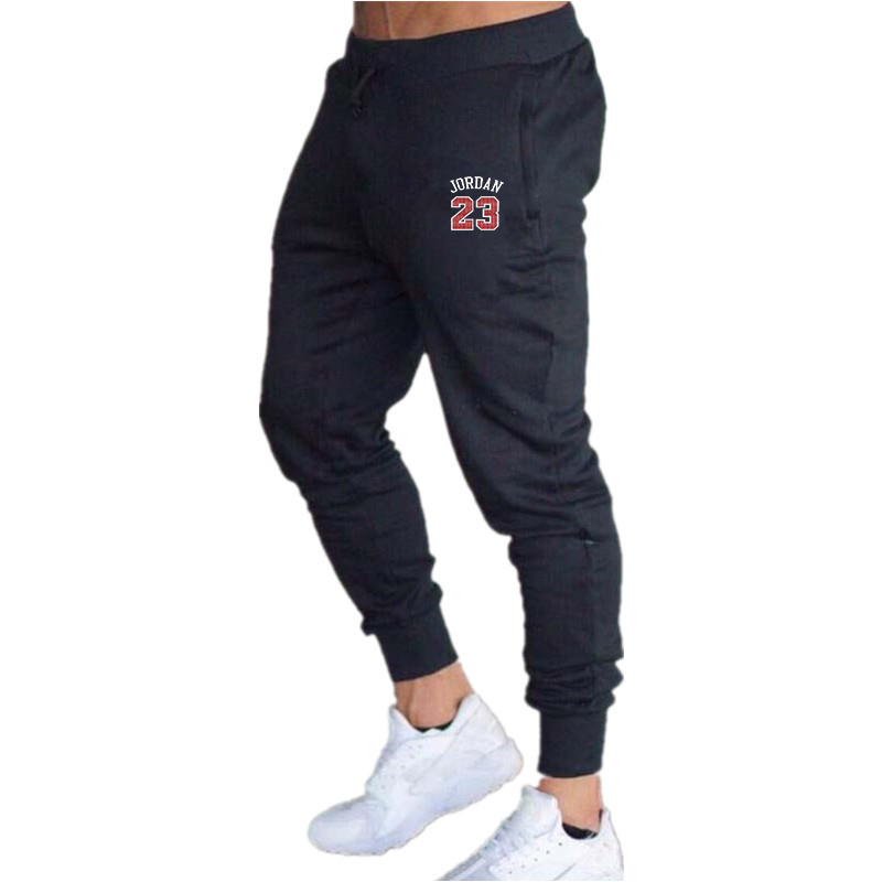 Joggers  23 Pants Men 2019 Fashion Men Side Seam Print Fitnes Workout Skinny Sportswear Sweatpants Male Casual Leggings Trousers