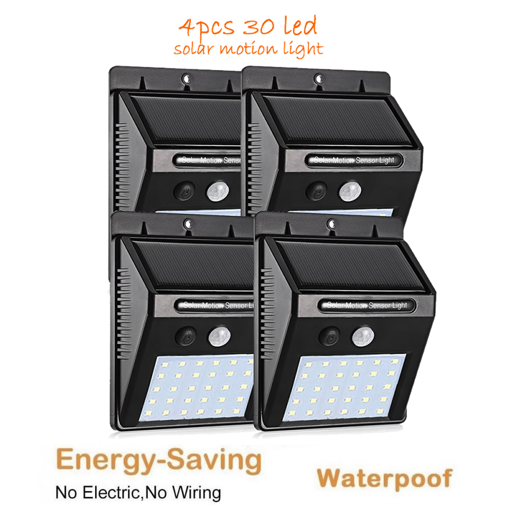 LED Solar Light PIR Motion Sensor Wall Lamp Energy-saving Lights Waterproof Outdoor Garden Flood Spotlights Chandelier Pendant