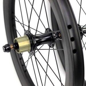 "Image 5 - אופני פחמן זוג גלגלי 5 6 7 מהירות 16x1 3/8 ""349 זוג גלגלי 14H/21H לברומפטון 3 שישים Ultralight מתקפל אופני גלגלים"