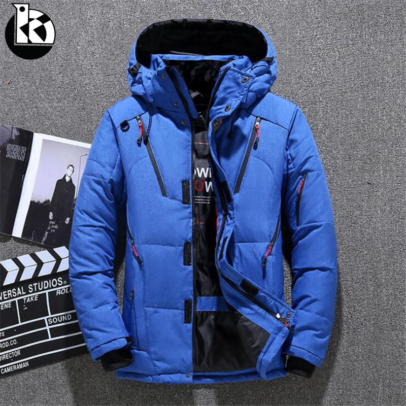 New Fashion High Quality Winter Jacket Men Hooded Thick Warm Duck Down Parka Coat Casual Slim Down Mens Overcoat Many Pockets​