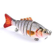 1 PCS YUZI Fishing Wobblers Swim Bait 6-7 Sections Lure 11cm/15.5g 6# Good Quality Hook Tackle