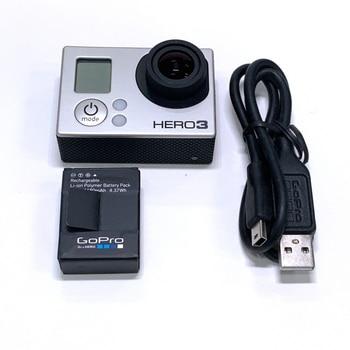 100% բնօրինակ տեսախցիկ GoPro HERO3 Hero 3 Black Edition արկածային տեսախցիկի համար `մարտկոցով և լիցքավորող տվյալների մալուխով 90% նոր