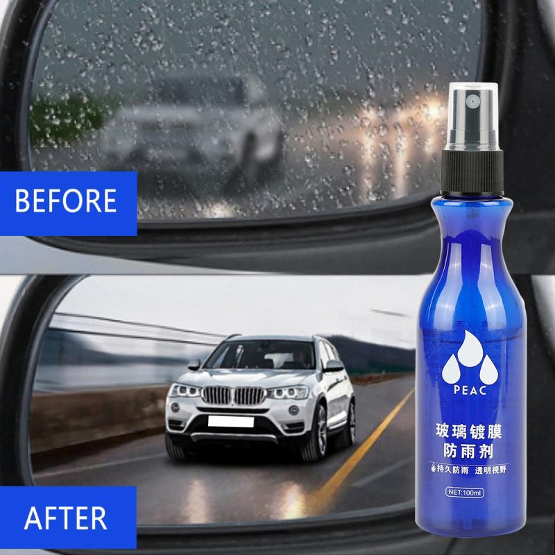 Антидождевой агент на лобовое стекло автомобиля, 100 мл, водонепроницаемый непромокаемый противотуманный спрей, Автомобильное зеркало задн...