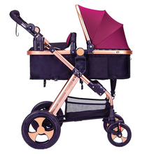 Baby Stroller Car-Seat High-Landscape Luxury 3-In-1 for 0-36-Months Big-Space
