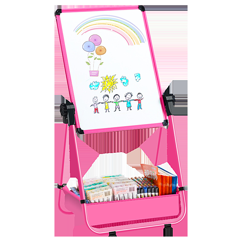 Special Children's Painting Easel Adjustable Double-Sided Magnetic Bracket Small Blackboard Household Doing Homework Learning 3-