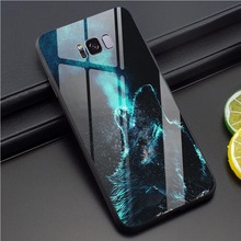 Wolf Tempered Glass Phone Case for Samsung