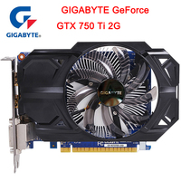 New GIGABYTE GTX 750 Ti with 2 GB GDDR5 128 bit Memory Interface NVIDIA GeForce gtx 750 ti GPU Video card for PC used VGA cards