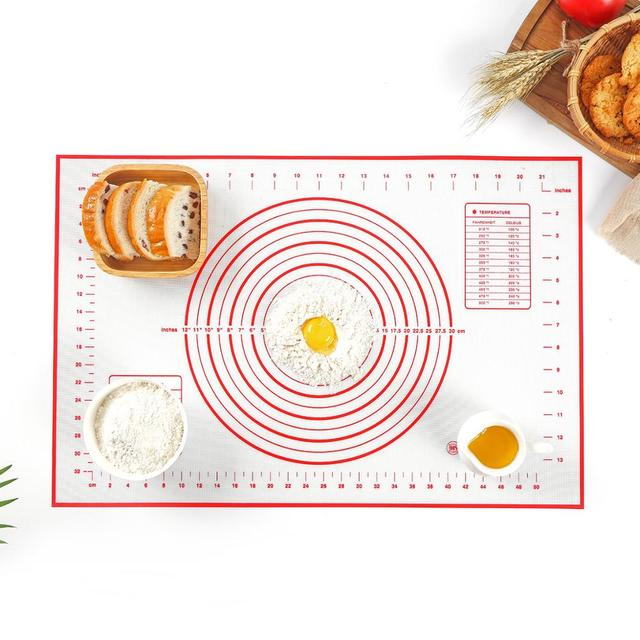 Silicone Baking Mat Pizza Dough Maker Pastry Kitchen Gadgets Cooking Tools Utensils Bakeware Kneading Accessories Lot 2